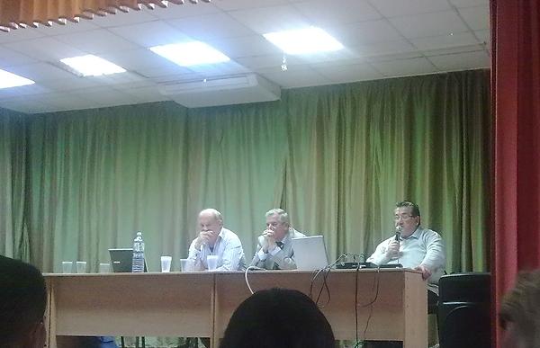 Звенигород, конференция АИК-2014, К. Шурер, Л.И. Бородкин, В.Н. Владимиров