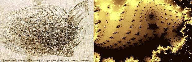 fractals, Leonardo da Vinci, turbulence